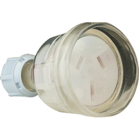 3 Pin 15A Extension Socket (Clear)