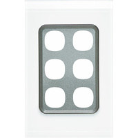 Clipsal Saturn 30 Series 6 Gang Grid & Plate (Pure White)