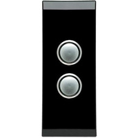 Clipsal Saturn 2 Gang Architrave Switch with LED (Espresso Black)