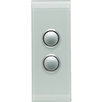 Clipsal Saturn 2 Gang Architrave Switch with LED (Ocean Mist)