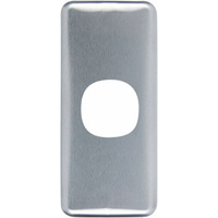 Clipsal Classic 1 Gang Architrave Brushed Aluminium Cover