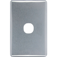 Clipsal Classic 1 Gang Brushed Aluminium Silver Cover