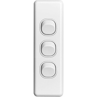 Clipsal Classic 3 Gang Architrave Switch
