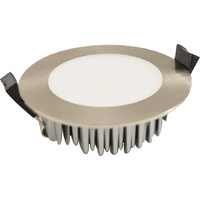 13W Dimmable LED Downlight Kit Flush Silver (Tri Colour Switchable)