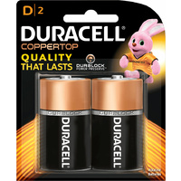 Duracell All Purpose D Batteries (2 Pack)