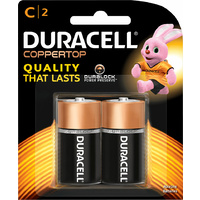 Duracell All Purpose C Batteries (2 Pack)