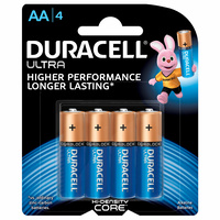 Duracell Ultra AA Batteries (4 Pack)