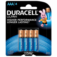 Duracell Ultra AAA Batteries (4 Pack)