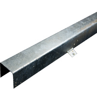 75mm x 75mm Galvanised UGOH Top Hat + Legs (3.0mtr Length)