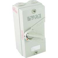 2 Pole 20A Isolator Switch
