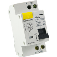RCD / MCB Safety Switch 2 Pole 4.5kA