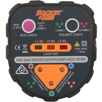Professional Earth Loop Impedance / Polarity / RCD Socket Tester
