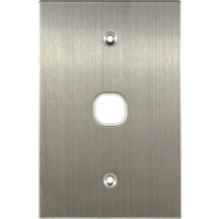 Connected Switchgear Stainless Steel 1 Gang Plate