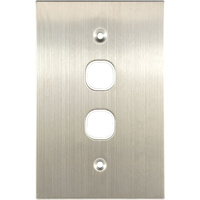 Connected Switchgear Stainless Steel 2 Gang Plate