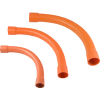150mm Orange Sweep Bend 90°