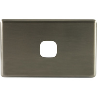 One Gang Aluminium Brushed Silver Metal Cover