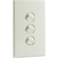 QCE Slimline 3 Gang Triple Light Switch