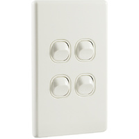 QCE Slimline 4 Gang Quad Light Switch