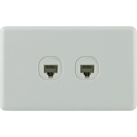 QCE Slimline Twin Data & Telephone Outlet - RJ45 Socket