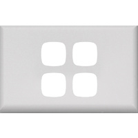 HPM Excel 4 Gang Light Switch White Cover