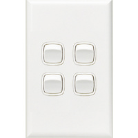 HPM Excel 4 Gang Light Switch