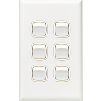 HPM Excel 6 Gang Light Switch