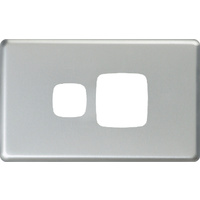 HPM Excel Single Powerpoint Matt Silver Metal Cover