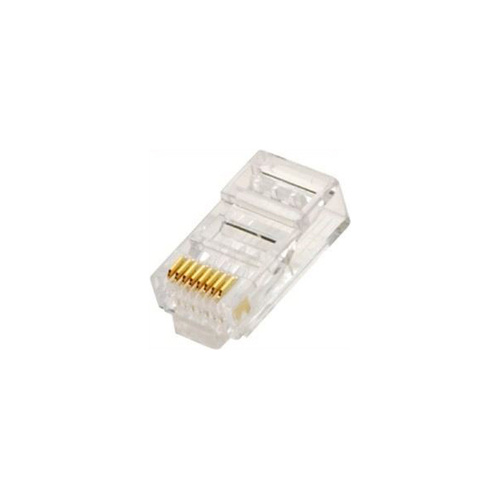 RJ45 8 Pin Round Solid Connector (10 Pack)