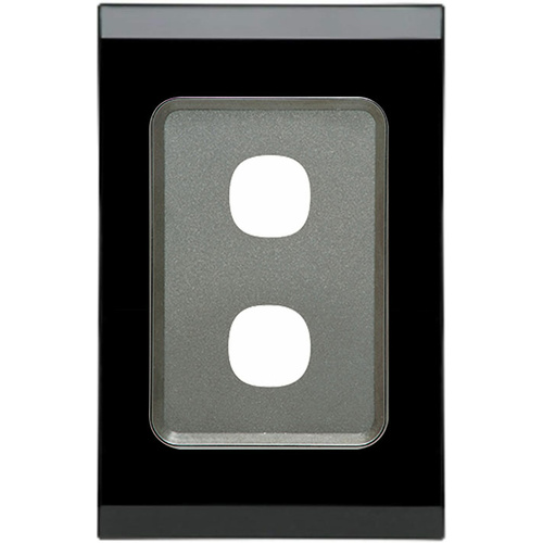 Clipsal Saturn 30 Series 2 Gang Grid & Plate (Espresso Black)