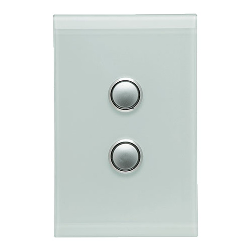 Clipsal Saturn 2 Gang Switch with LED (Ocean Mist)