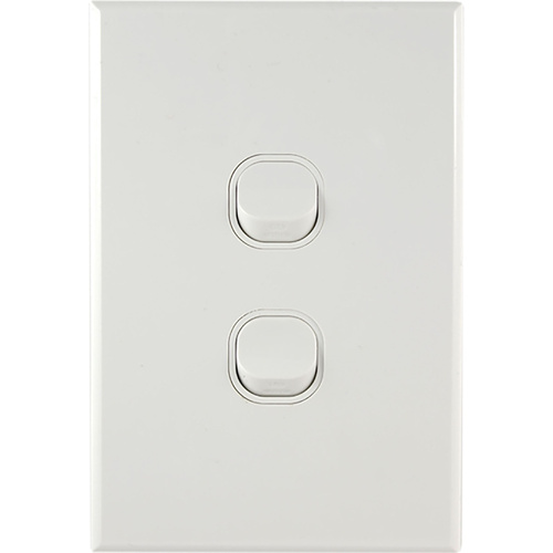 Connected Switchgear GEO 2 Gang Light Switch [ Black ]