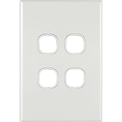 Connected Switchgear GEO 4 Gang Grid + Plate [ Black ]