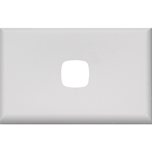 HPM Excel 1 Gang Light Switch White Cover