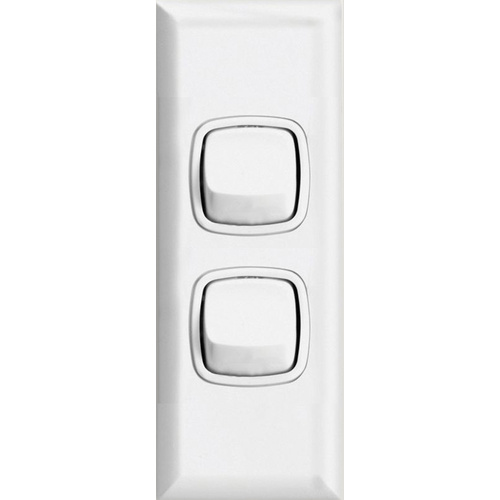 HPM Excel 2 Gang Architrave Light Switch