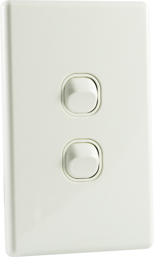 Qce Slimline 2 Gang Double Light Switch