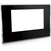 "7"" VIdeo Intercom System Black with Silver Trim"