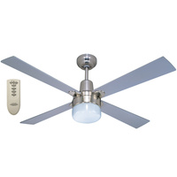 Four Seasons Alpha 1200mm Fan + Clipper Light + Remote Silver