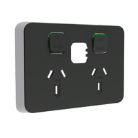 Clipsal Iconic Connected Socket Double Powerpoint Skin Anthracite