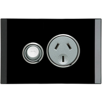Clipsal Saturn Single Powerpoint (Espresso Black)