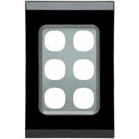 Clipsal Saturn 30 Series 6 Gang Grid & Plate (Espresso Black)