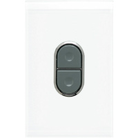 Clipsal Saturn Push Button Cooker Switch 45A Single Pole (Pure White)