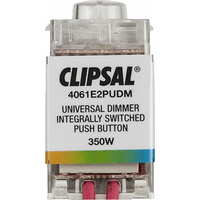 Clipsal Saturn Integrally Switched Push Button Dimmer