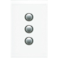 Clipsal Saturn 3 Gang Switch with LED Pure White