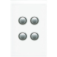 Clipsal Saturn 4 Gang Switch with LED Pure White