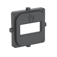 Clipsal 40 Series Single Mechanism Cap USB Anthracite
