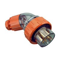 Clipsal 56 Series Round 7 Pin 20A Angled Plug Electric Orange
