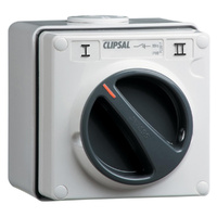 Clipsal 56 Series 1 Pole 10A 2 Way Isolating Switch Grey