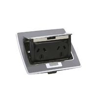 Clipsal Pop Up Double Power Outlet 10A Stainless Steel