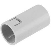 25mm Plain to Corrugated Connector Grey