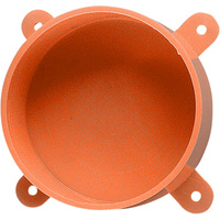 Orange Disposable Lid with Lugs